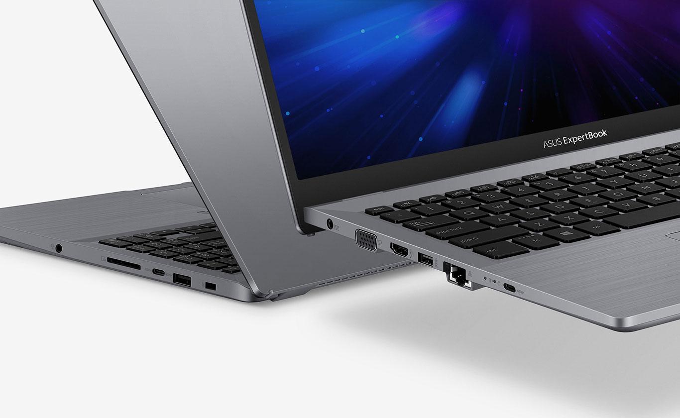 Asus ExpertBook P3 P3540 porty USB 3.2, USB-C, RJ45